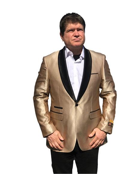 Alberto Nardoni Brand Champagne ~ Gold tuxedo Dinner Jacket Blazer Sport Jacket
