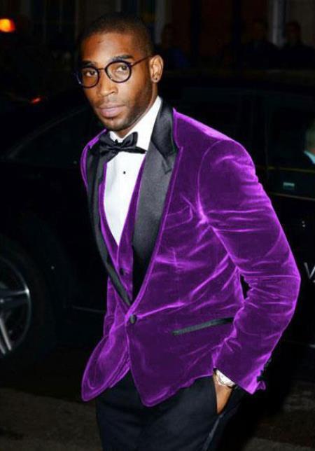 Men's Cheap Priced Big And Tall Purple Blazers Velvet ~ Velour Clearance Blazer / Sport Coat