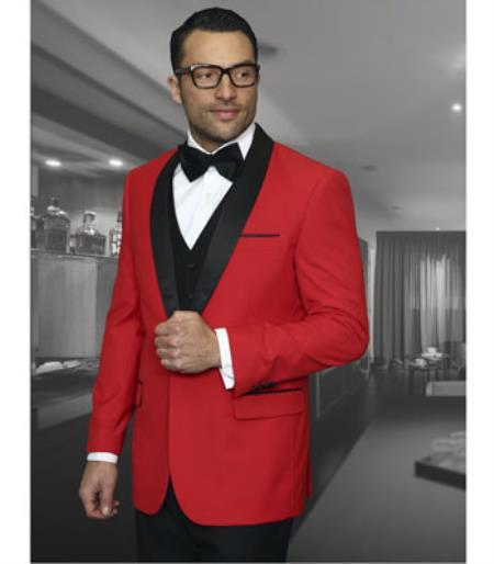 Men's Red Shawl Lapel Side Vented Velvet Velour Cheap Priced Jacket For Mens