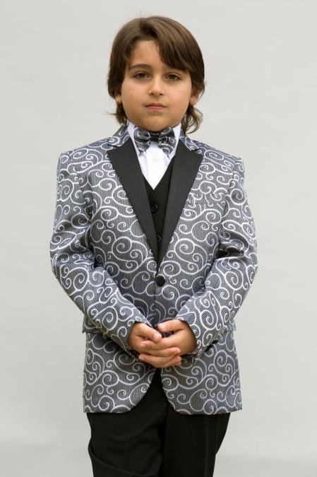 Men s Silver Designer Fashion Dress Casual Blazer