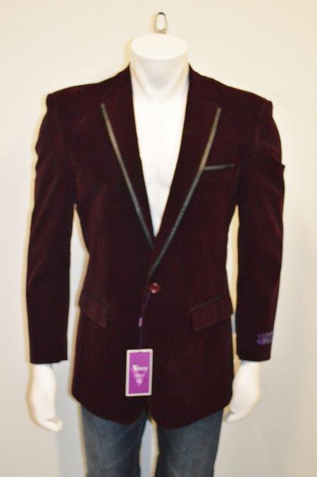Button Velvet Blazer With