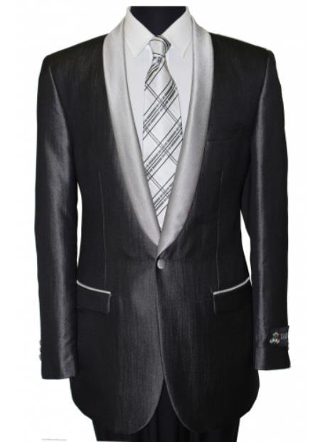 Men's Black Shawl Collar Single Button Dinner Jacket / Blazer Sport coat