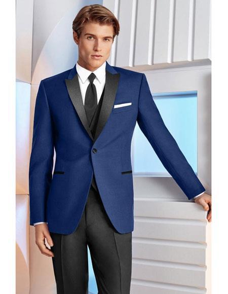 Indigo Slim Fit Dress Suits for Men