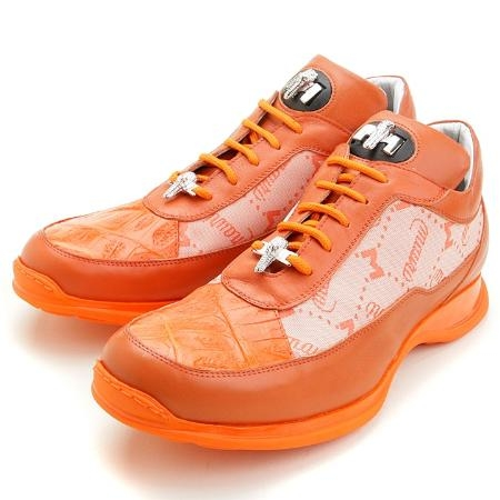 SKU#OR4950 Orange Crocodile, Calf & Fabric $229
