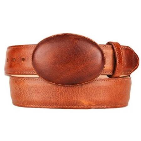 SKU#SM243 Original Leather Western Style Belt Honey