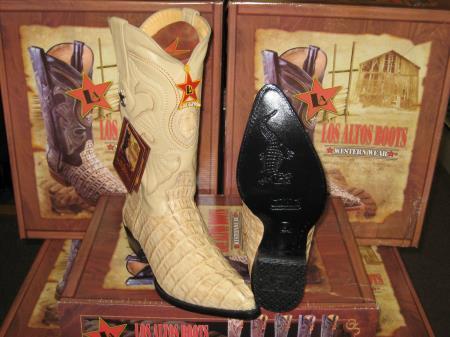 Los Altos Oryx Genuine Crocodile ~ World Best Alligator ~ Gator Skin Tail Western Cowboy Boot