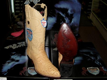 Wild West Oryx Tan ~ Beige Genuine Crocodile ~ World Best Alligator ~ Gator Skin Western Cowboy Dress Cowboy Boot Cheap Priced For Sale Online(D)