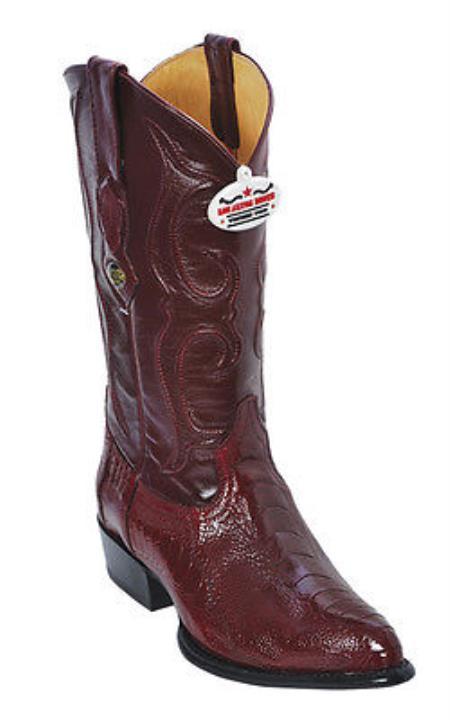 Buy KA5320 Ostrich Leg Burgundy ~ Maroon ~ Wine Color Los Altos Men's Cowboy Boots Western Rider Cla