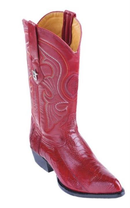 Buy X46V Los Altos Red Ostrich Leg Cowboy Boots