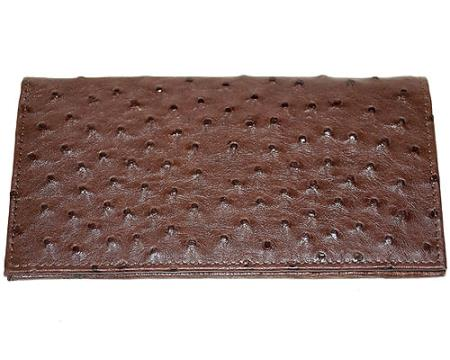 Buy YUJ7 Wallet ~ billetera ~ CARTERAS Large Ostrich Wallet Tabac