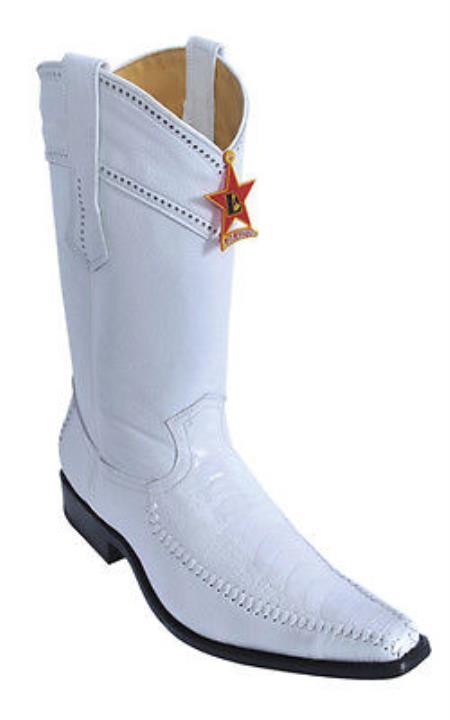 Ostrich Leg Leather White Los Altos Mens Cowboy Boots Western Rider Classics