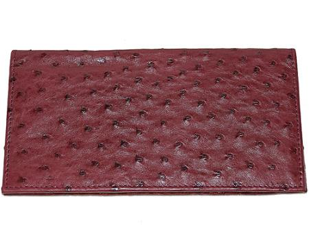 Buy WIN5 Wallet ~ billetera ~ CARTERAS Large Ostrich Wallet Wine