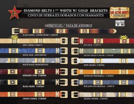 """Diamond Belts 15"""" Width"""