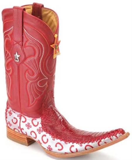 Leg Leather Red Los