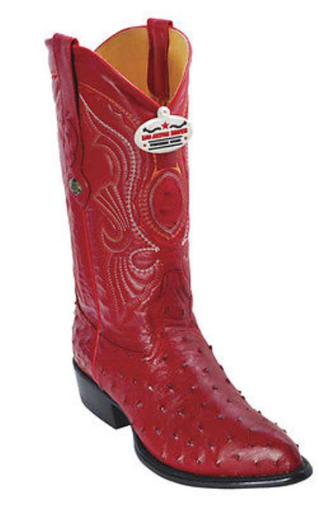 Buy KA5580 Full Quill Ostrich Vintage Red Los Altos Men's Western Boots Cowboy Classics