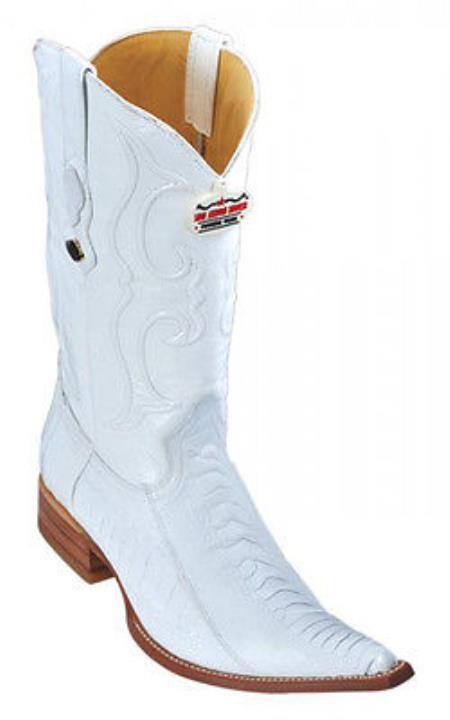 Leg Leather White Los