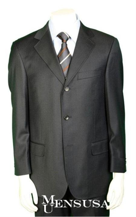 SKU# PM3 Oxford Gray Pick Stitch Laple Super 150s Wool Developed by NASA $175