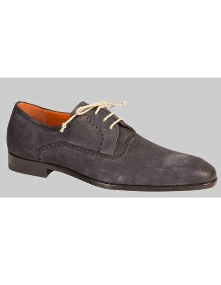 GD466 Men's Oxford Grey Sleek Style Leather Sole Shoes Authentic Mezlan Brand