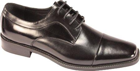 SKU#RH8307 Mens Lace Up Cap Toe Dress Oxfords Black