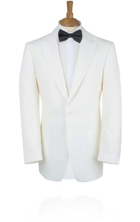 New Vintage Tuxedos, Tailcoats, Morning Suits, Dinner Jackets White Tuxedo Jacket with Peak Lapel $249.00 AT vintagedancer.com
