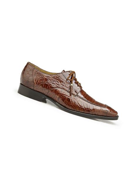 Mens Genuine World Best Alligator ~ Gator Skin Peanut Lace Up Style Dress Shoes