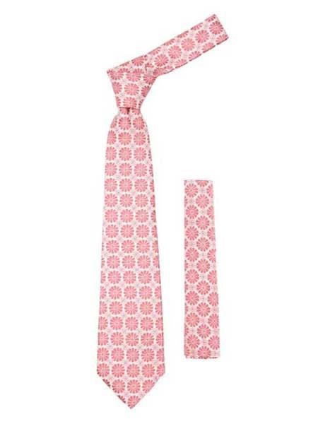 Pink Necktie Floral Design