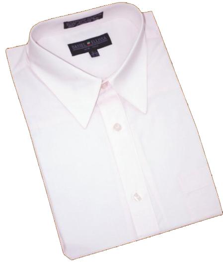 Light Pink Cotton Blend Dress Shirt With Convertible Cuffs