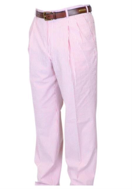 Seersucker Sear sucker suit Pink Dress Pants