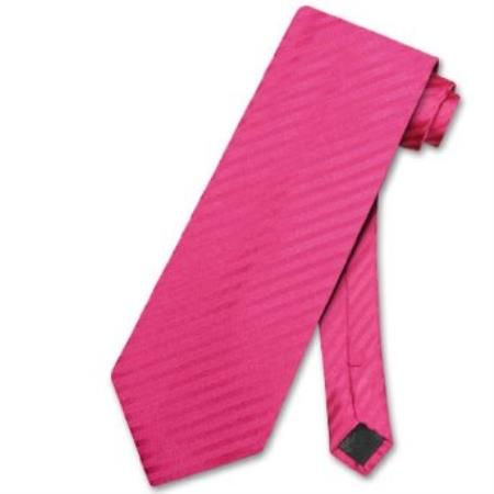 Pink Horizontal Mens Design Neck Tie