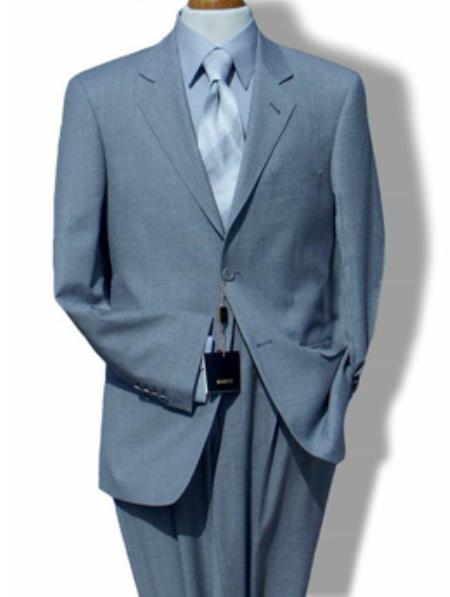 SKU#HX7122 R&H 2 Button Side Vents Jacket With Flat Front Pants Super 150 Wool Suit Seperate