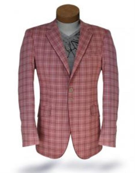 Windowpane Blazer Jacket Tropical