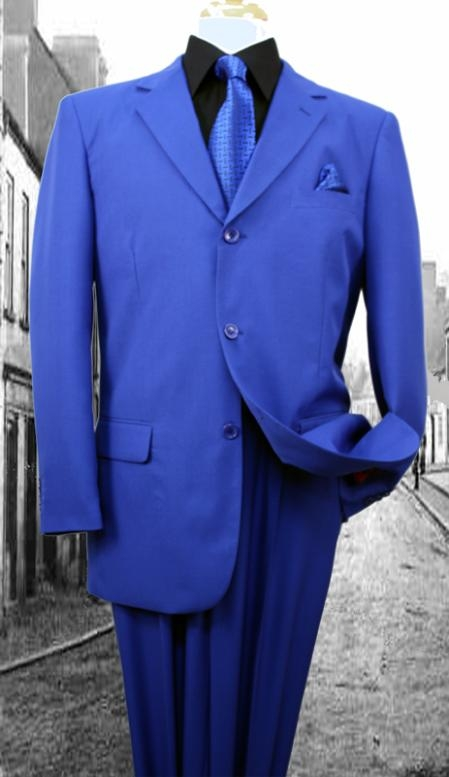 SKU#WP3977 Super 120'S G-Royal Solid Color Suit