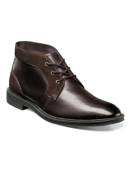 Stacy Adams Brown Men's Plain Toe Chukka