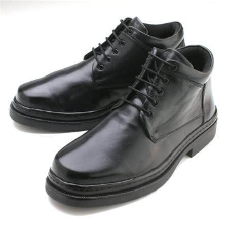 SKU# 24568 Plain toe five eyelet demi-boot in sheepskin. Rubber sole. $139