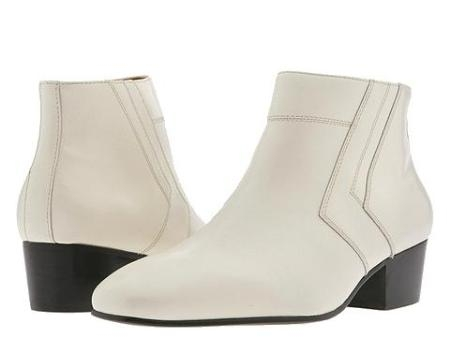 SKU# 15548 Plain-toe demi boot with calfskin. Rubber sole.  $99