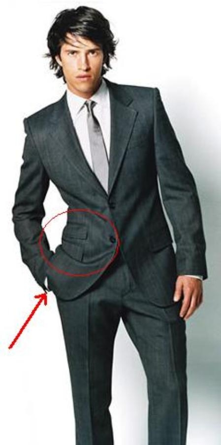 SKU#R&H Ticket Pocket (2 Pocket On The Left Side) 2 Button Suit in 6 Colors $199