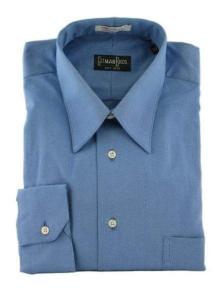 Gitman Point Collar Pinpoint Oxford Dress Shirt-French Blue Price: $82.00 Sale Price $65