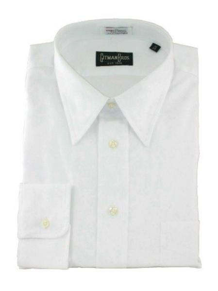 Gitman Point Collar Pinpoint Oxford Dress Shirt-White Price: $82.00 Sale Price $65