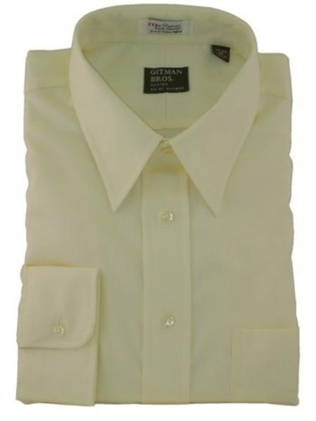 Gitman Point Collar Pinpoint Oxford Dress Shirt-Yellow Price: $82.00 Sale Price $45