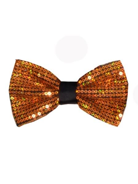 Sparkly Bow Tie Mens Polyester Gold Sequin Bowtie