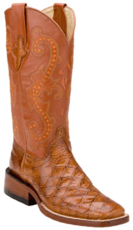 SKU#KU3846 Print Anteater Copper~Rust~Cognac- S Toe