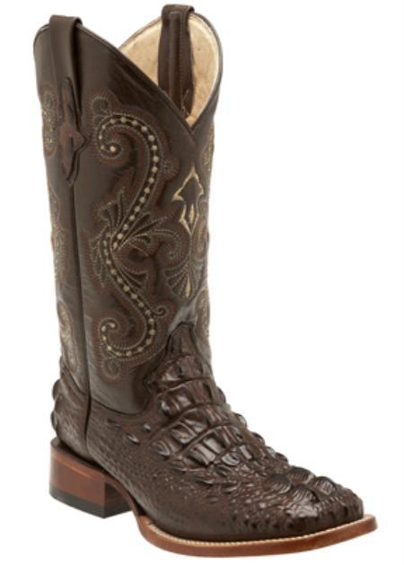 SKU#GV3947 Print Hornback Crocodile Chocolate - S Toe $500