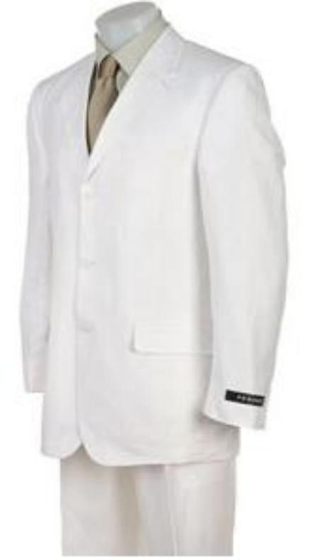 SKU# WSJ723 Pure Solid Light Non Wrinckle 3 Buttons Mens Dress Suits $99