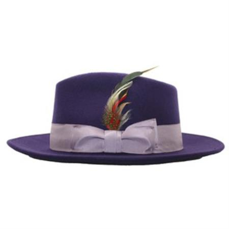 Purple Lavendar Fedora Hat