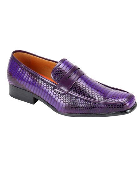 Mens Stylish Slip-On Purple Casual Shoes