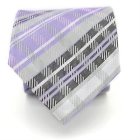 Purple Neck Tie and Handkerchief Set