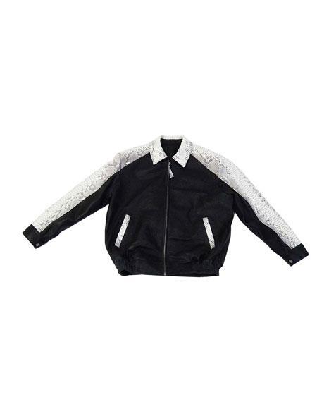 G-Gator - 2095 Zipper Closure Lambskin/Python Black Jacket