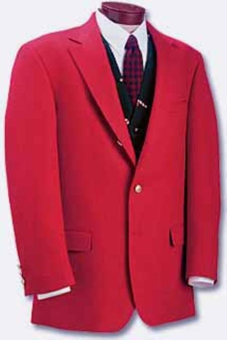 SKU# YAQ746 RED sport coats - RED blazers # 23205 Sportcoat, poly $159
