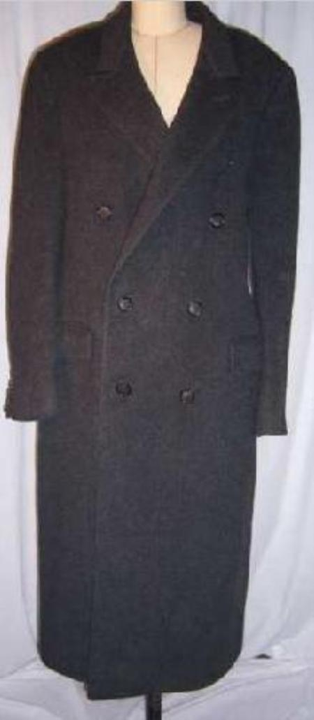 SKU#B878 Rafael Dark gray Double breasted long pea Double breasted coat style $499