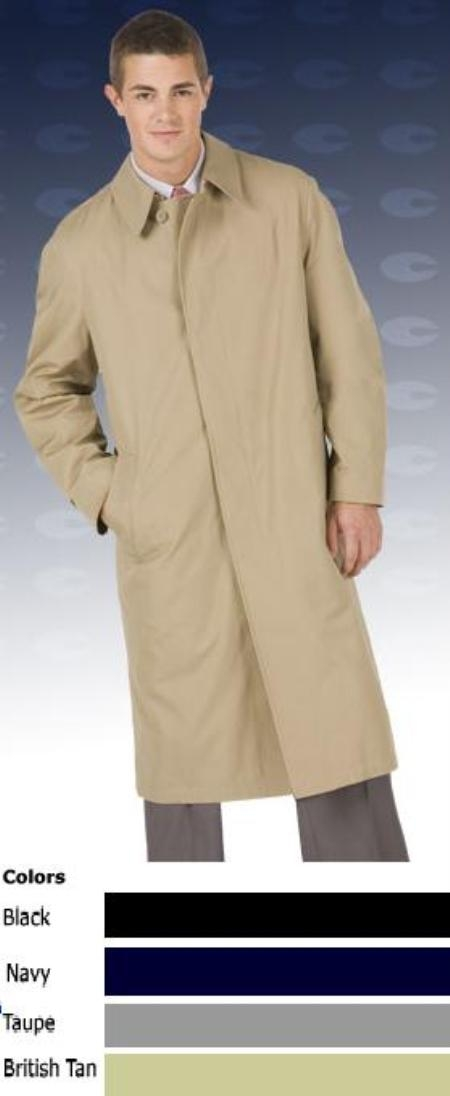 "SKU#Byron7719 Rain resistant 46"" center vent split shoulder coat $149"